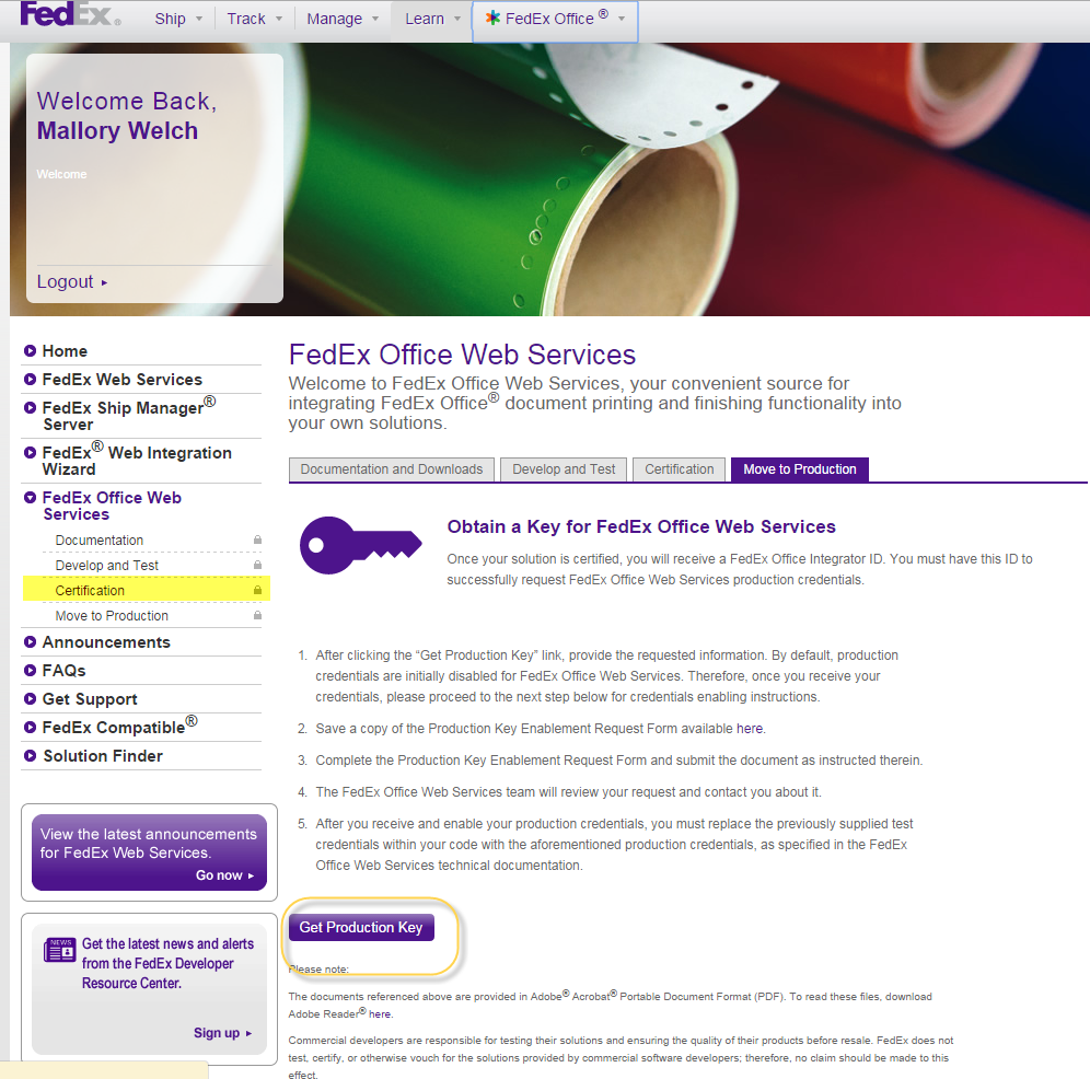 how to set up a fedex account