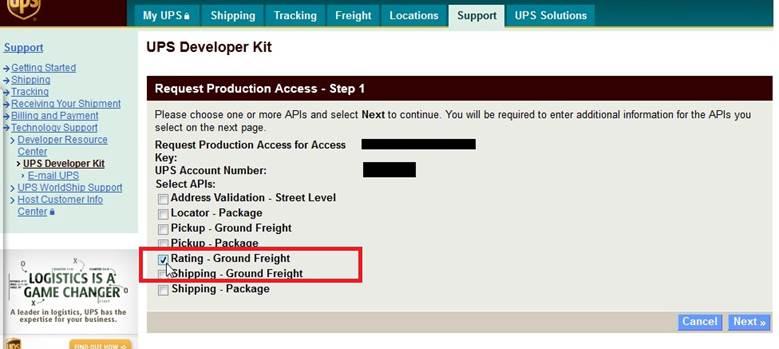 UPS Freight Ground Integration – Knowledge Center